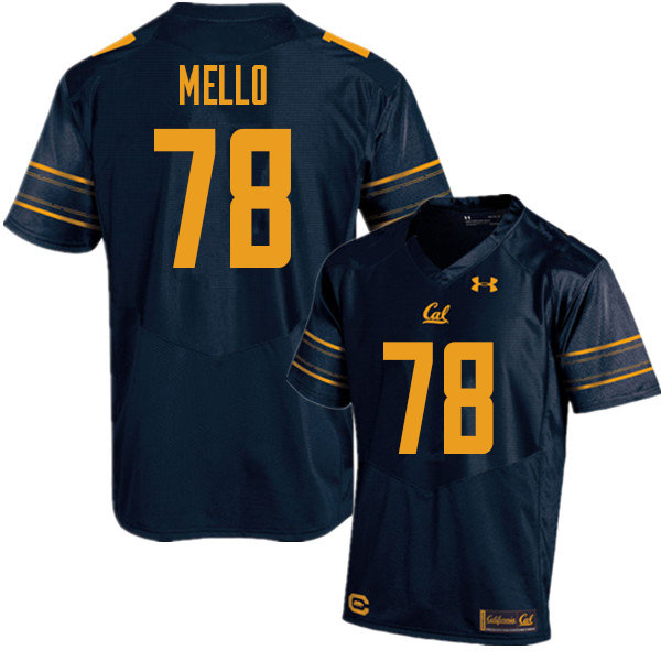 Men #78 Brandon Mello Cal Bears UA College Football Jerseys Sale-Navy