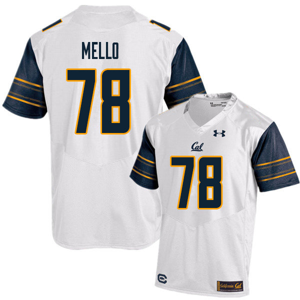 Men #78 Brandon Mello Cal Bears UA College Football Jerseys Sale-White