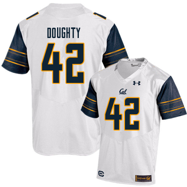 Men #42 Colt Doughty Cal Bears UA College Football Jerseys Sale-White