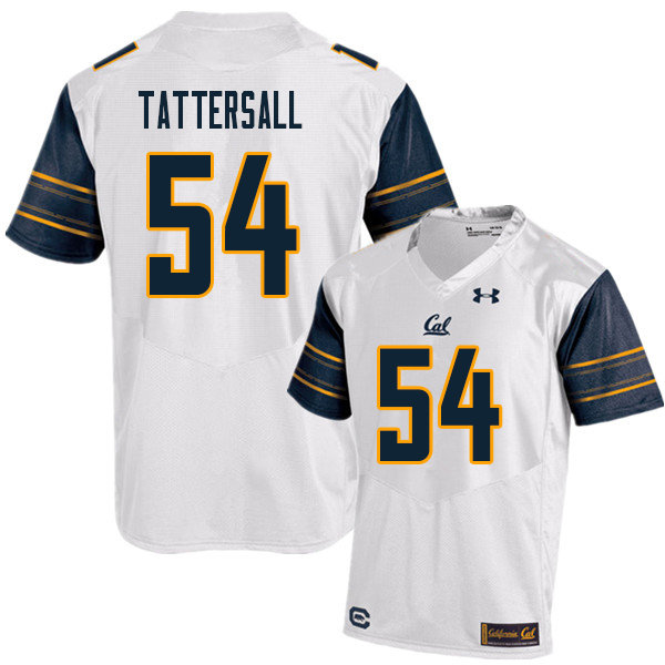 Men #54 Evan Tattersall Cal Bears UA College Football Jerseys Sale-White