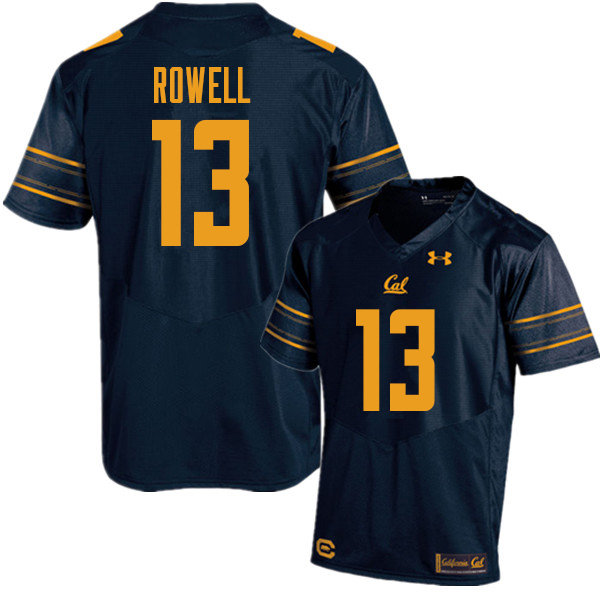 Men #13 Robby Rowell Cal Bears UA College Football Jerseys Sale-Navy