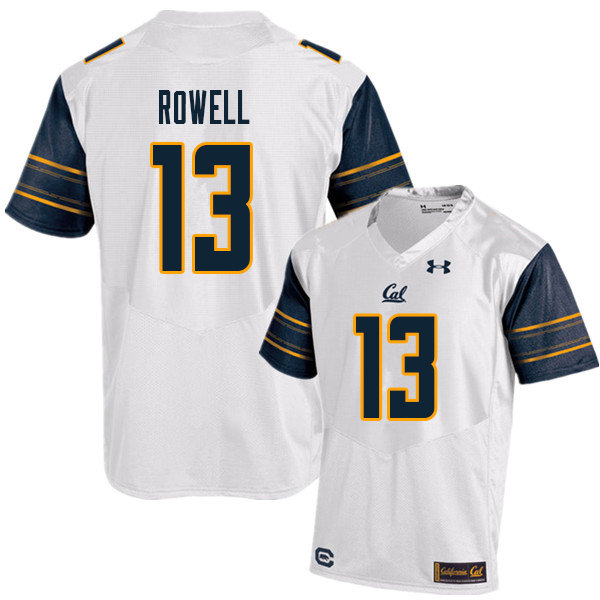 Men #13 Robby Rowell Cal Bears UA College Football Jerseys Sale-White