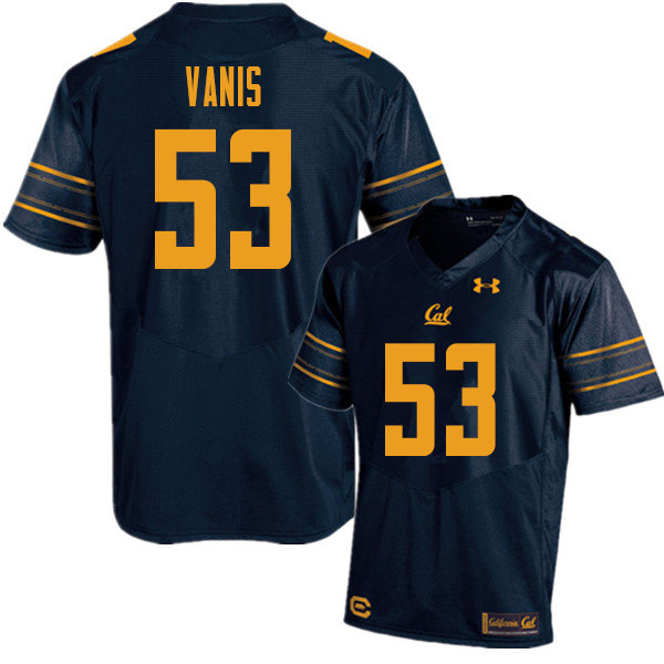 Men #53 Tommy Vanis Cal Bears UA College Football Jerseys Sale-Navy