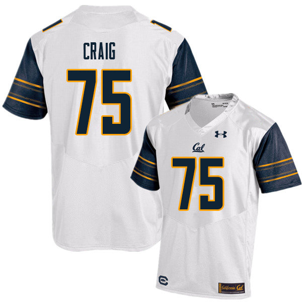 Men #75 Will Craig Cal Bears UA College Football Jerseys Sale-White