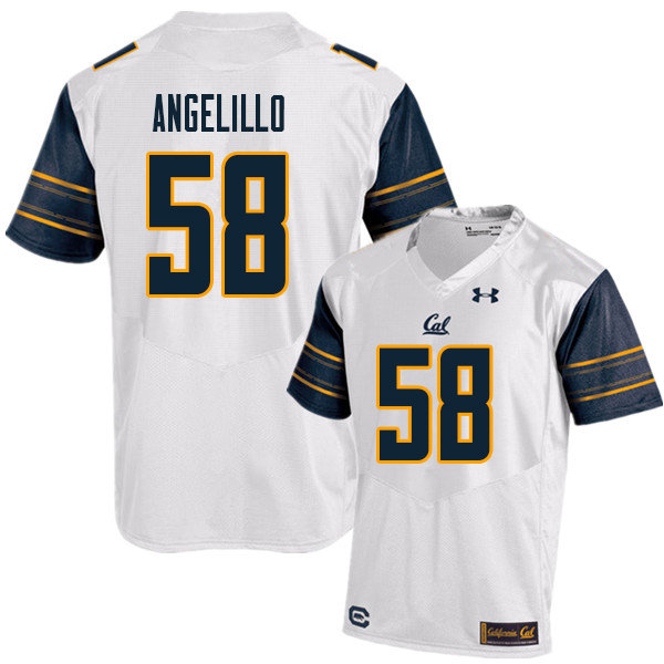 Men #58 Zach Angelillo Cal Bears UA College Football Jerseys Sale-White