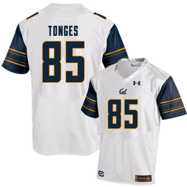 Men #85 Jake Tonges Cal Bears College Football Jerseys Sale-White