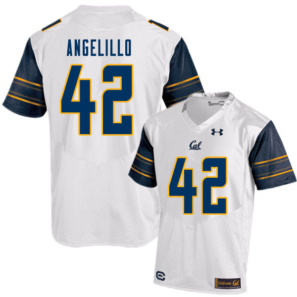 Men #42 Zach Angelillo Cal Bears College Football Jerseys Sale-White