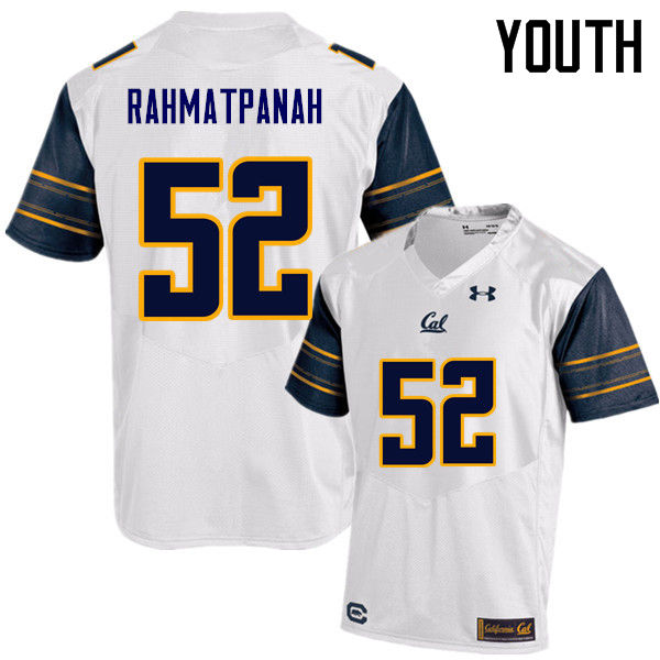 Youth #52 Arwin Rahmatpanah Cal Bears (California Golden Bears College) Football Jerseys Sale-White
