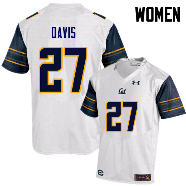 Women #27 Ashtyn Davis Cal Bears (California Golden Bears College) Football Jerseys Sale-White