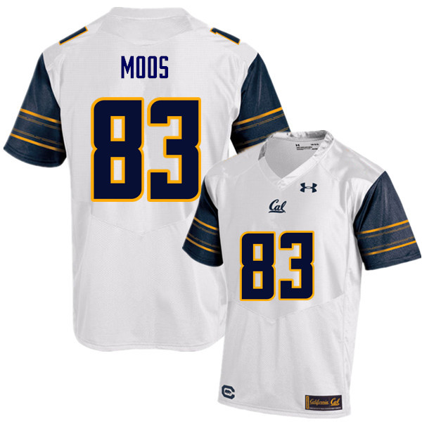 Men #83 Ben Moos Cal Bears (California Golden Bears College) Football Jerseys Sale-White