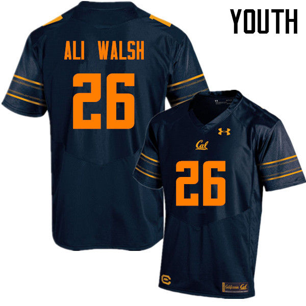 Youth #26 Biaggio Ali Walsh Cal Bears (California Golden Bears College) Football Jerseys Sale-Navy