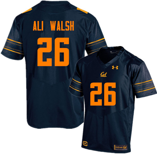 Men #26 Biaggio Ali Walsh Cal Bears (California Golden Bears College) Football Jerseys Sale-Navy