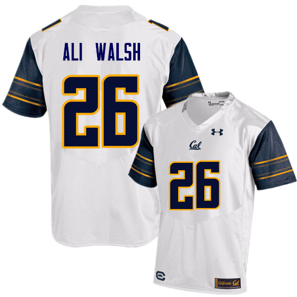 Men #26 Biaggio Ali Walsh Cal Bears (California Golden Bears College) Football Jerseys Sale-White