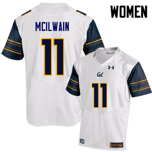 Women #11 Brandon McIlwain Cal Bears (California Golden Bears College) Football Jerseys Sale-White