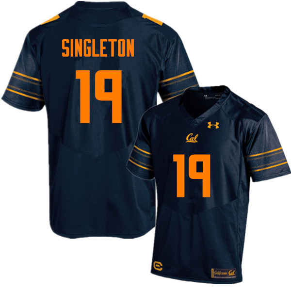 Men #19 Brandon Singleton Cal Bears (California Golden Bears College) Football Jerseys Sale-Navy
