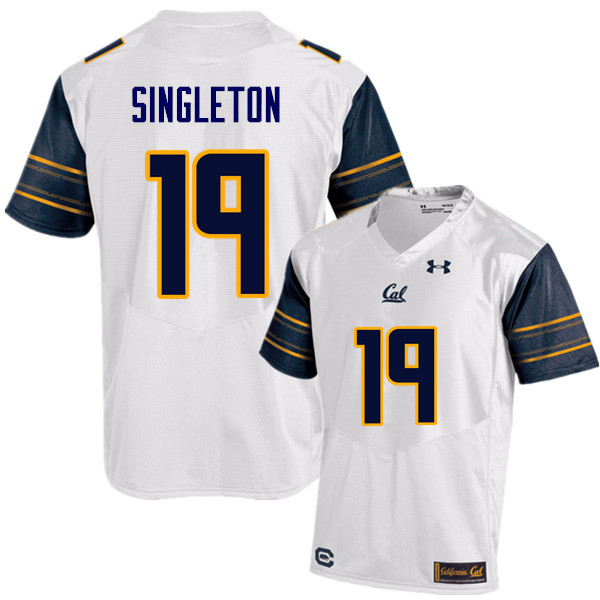 Men #19 Brandon Singleton Cal Bears (California Golden Bears College) Football Jerseys Sale-White