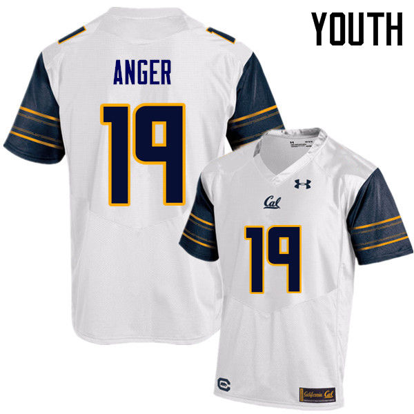 Youth #19 Bryan Anger Cal Bears (California Golden Bears College) Football Jerseys Sale-White