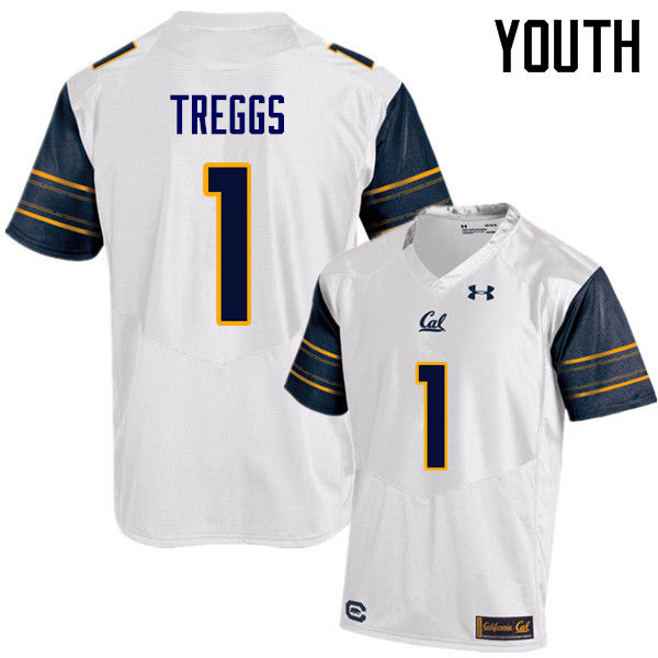 Youth #1 Bryce Treggs Cal Bears (California Golden Bears College) Football Jerseys Sale-White