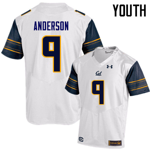 Youth #9 C.J. Anderson Cal Bears (California Golden Bears College) Football Jerseys Sale-White