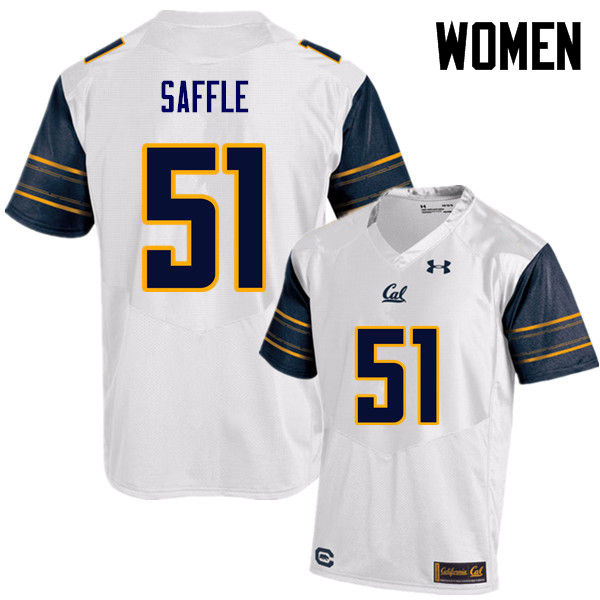 Women #51 Cameron Saffle Cal Bears (California Golden Bears College) Football Jerseys Sale-White