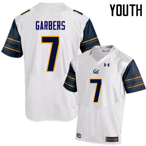 Youth #7 Chase Garbers Cal Bears (California Golden Bears College) Football Jerseys Sale-White