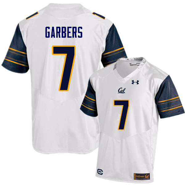 Men #7 Chase Garbers Cal Bears (California Golden Bears College) Football Jerseys Sale-White