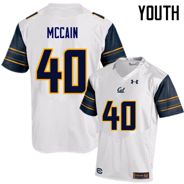 Youth #40 Chris McCain Cal Bears (California Golden Bears College) Football Jerseys Sale-White