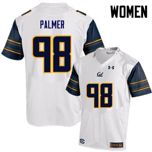 Women #98 Chris Palmer Cal Bears (California Golden Bears College) Football Jerseys Sale-White