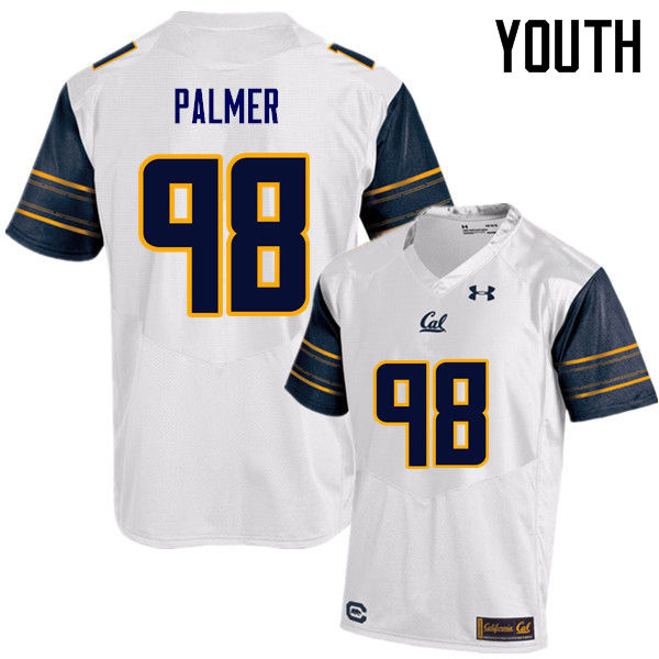 Youth #98 Chris Palmer Cal Bears (California Golden Bears College) Football Jerseys Sale-White