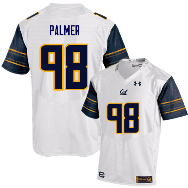 Men #98 Chris Palmer Cal Bears (California Golden Bears College) Football Jerseys Sale-White