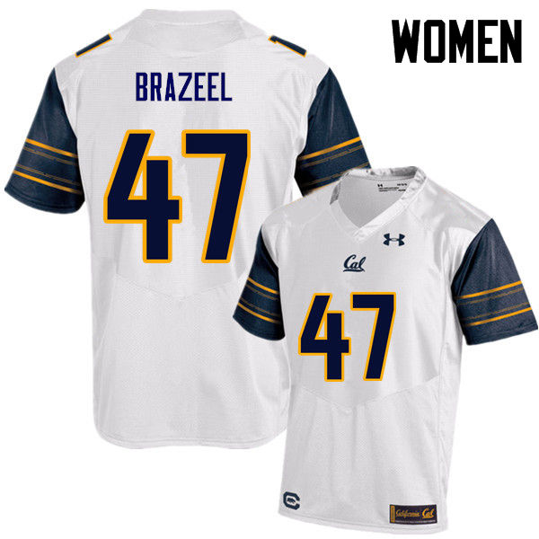 Women #47 Connor Brazeel Cal Bears (California Golden Bears College) Football Jerseys Sale-White