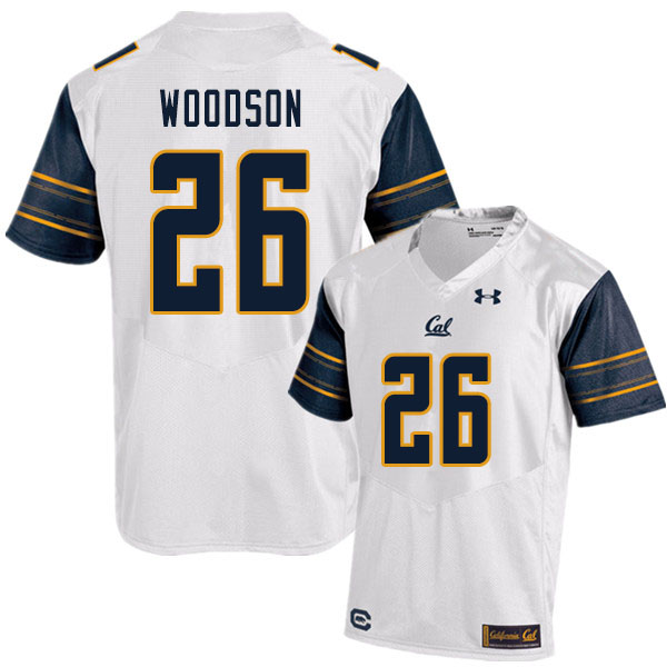 Men #26 Craig Woodson Cal Bears UA College Football Jerseys Sale-White