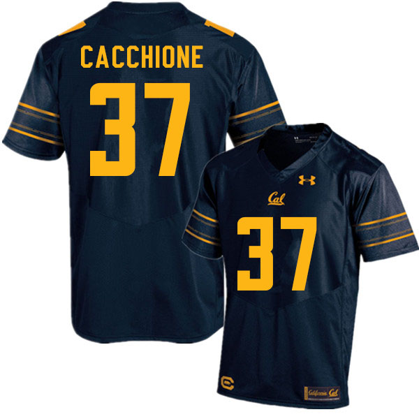 Men #37 Dante Cacchione Cal Bears College Football Jerseys Sale-Navy