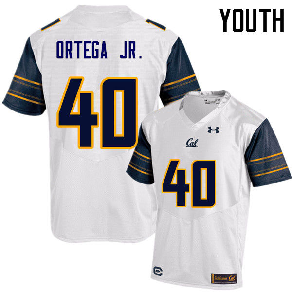 Youth #40 David Ortega Jr. Cal Bears (California Golden Bears College) Football Jerseys Sale-White