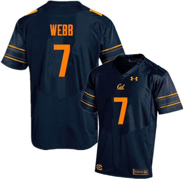 Men #7 Davis Webb Cal Bears (California Golden Bears College) Football Jerseys Sale-Navy
