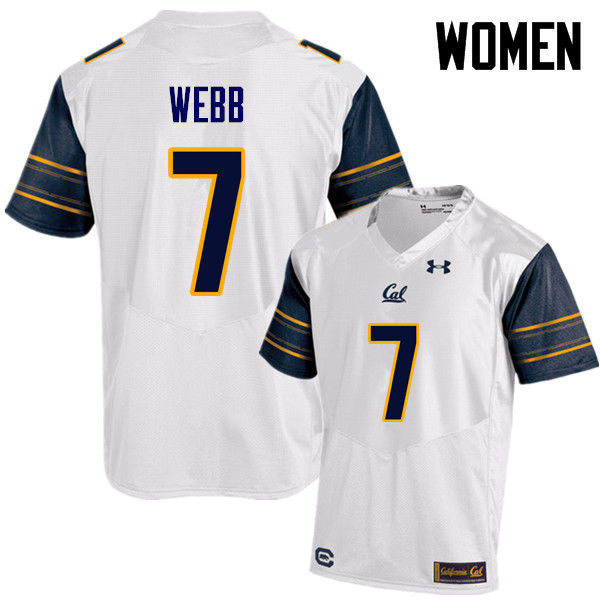 Women #7 Davis Webb Cal Bears (California Golden Bears College) Football Jerseys Sale-White