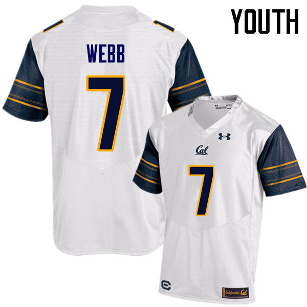 Youth #7 Davis Webb Cal Bears (California Golden Bears College) Football Jerseys Sale-White