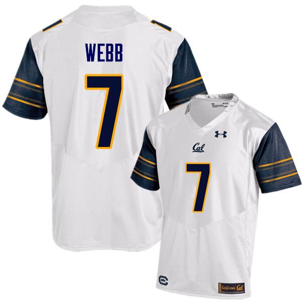 Men #7 Davis Webb Cal Bears (California Golden Bears College) Football Jerseys Sale-White