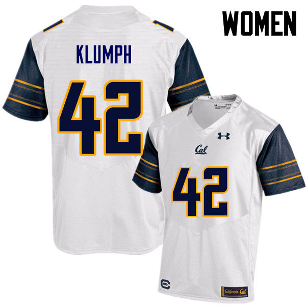 Women #42 Dylan Klumph Cal Bears (California Golden Bears College) Football Jerseys Sale-White