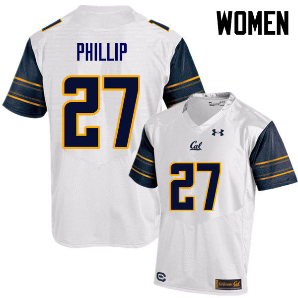 Women #27 Erik Phillip Cal Bears (California Golden Bears College) Football Jerseys Sale-White
