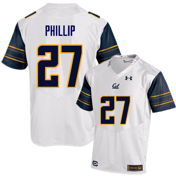 Men #27 Erik Phillip Cal Bears (California Golden Bears College) Football Jerseys Sale-White