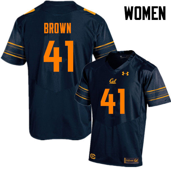 Women #41 Gerran Brown Cal Bears (California Golden Bears College) Football Jerseys Sale-Navy