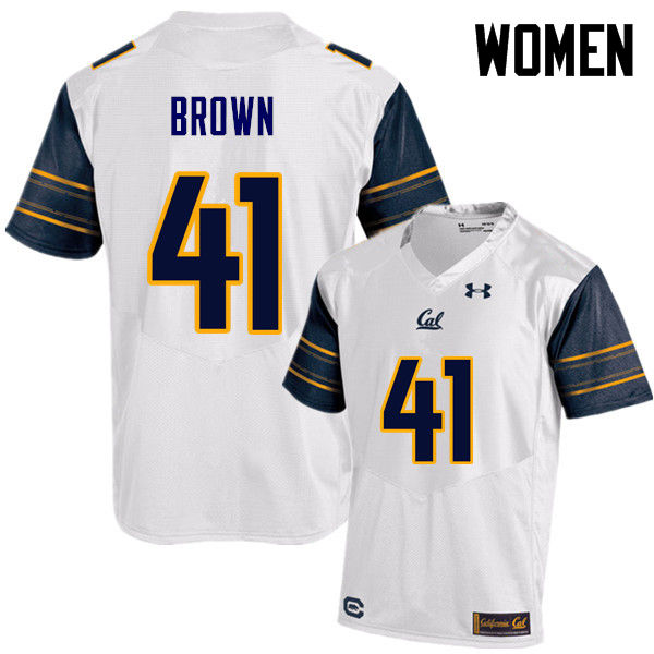 Women #41 Gerran Brown Cal Bears (California Golden Bears College) Football Jerseys Sale-White