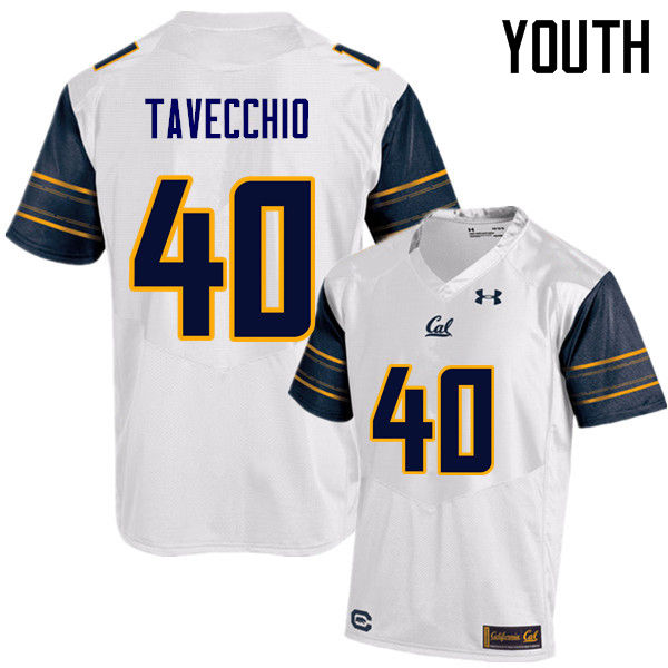 Youth #40 Giorgio Tavecchio Cal Bears (California Golden Bears College) Football Jerseys Sale-White