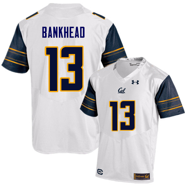 Men #13 Greyson Bankhead Cal Bears (California Golden Bears College) Football Jerseys Sale-White