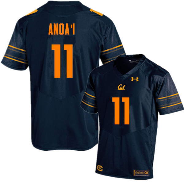 Men #11 Hamilton Anoa'i Cal Bears (California Golden Bears College) Football Jerseys Sale-Navy
