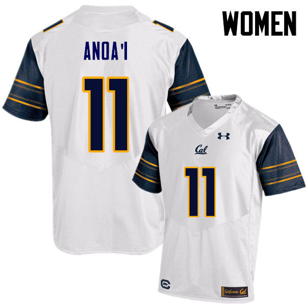 Women #11 Hamilton Anoa'i Cal Bears (California Golden Bears College) Football Jerseys Sale-White