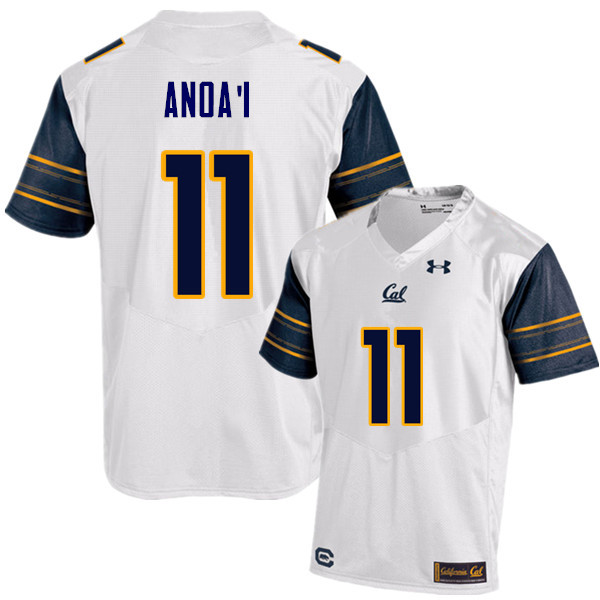 Men #11 Hamilton Anoa'i Cal Bears (California Golden Bears College) Football Jerseys Sale-White