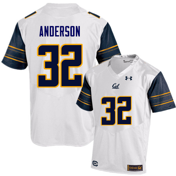 Men #32 Jacob Anderson Cal Bears (California Golden Bears College) Football Jerseys Sale-White
