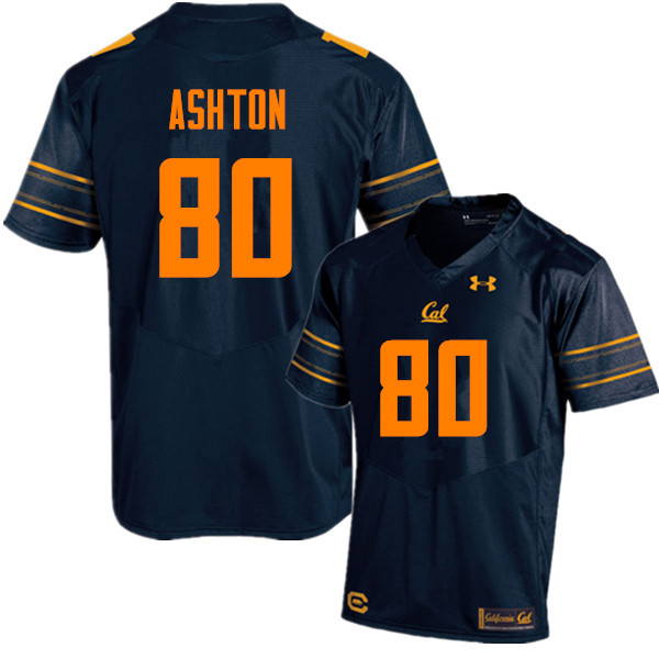 Men #80 Jake Ashton Cal Bears (California Golden Bears College) Football Jerseys Sale-Navy